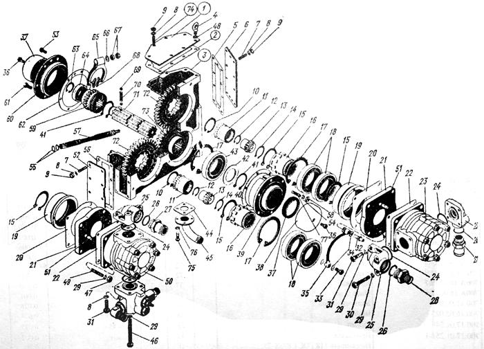 Редуктор привода насоса Трактор К 700 A