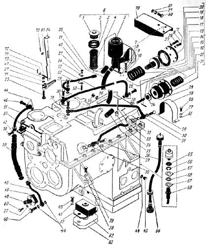 Установка коробки передач Трактор К 700 A