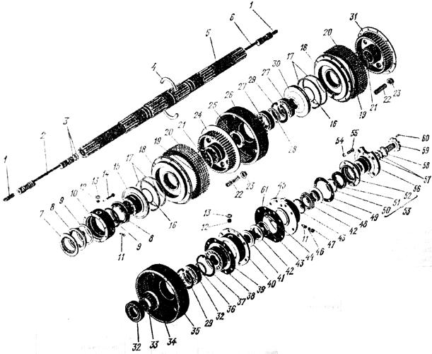 Вал ведущий коробки передач (фрикционная часть) Трактор К 700 A