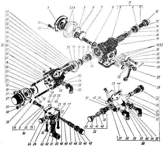 Распределитель с редуктором Трактор К 700 A