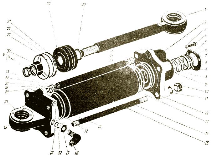 Цилиндр поворота Трактор К 700 A