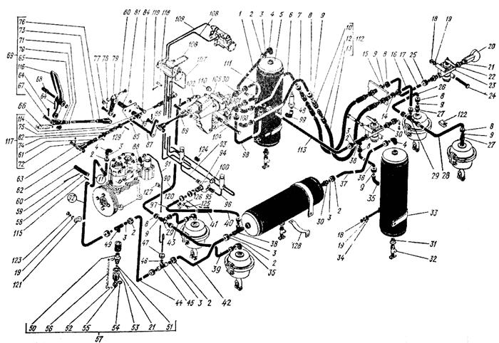 Система тормозная Трактор К 700 A