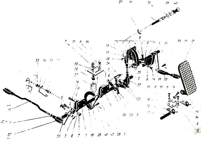 Управление двигателем ЯМЗ-238 НБ Трактор К 700 A