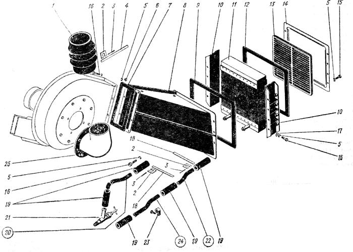 Отопление кабины Трактор К 700 A