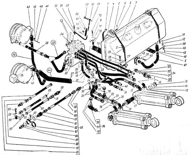 Система навесного оборудования Трактор К 700 A