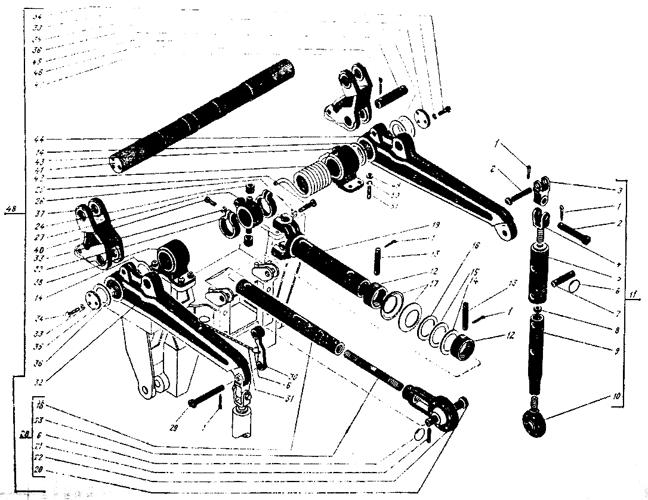 Механизм навески Трактор К 700 A