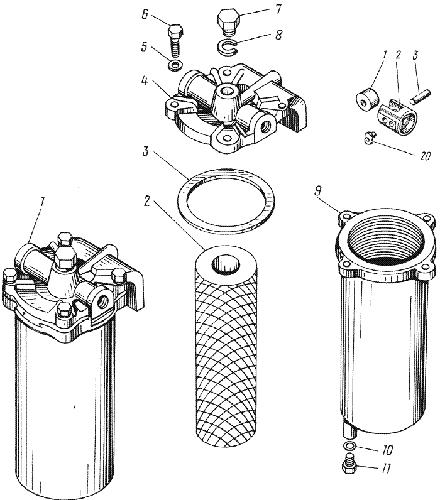 ЯMЗ 236 M : Фильтр грубой очистки топлива