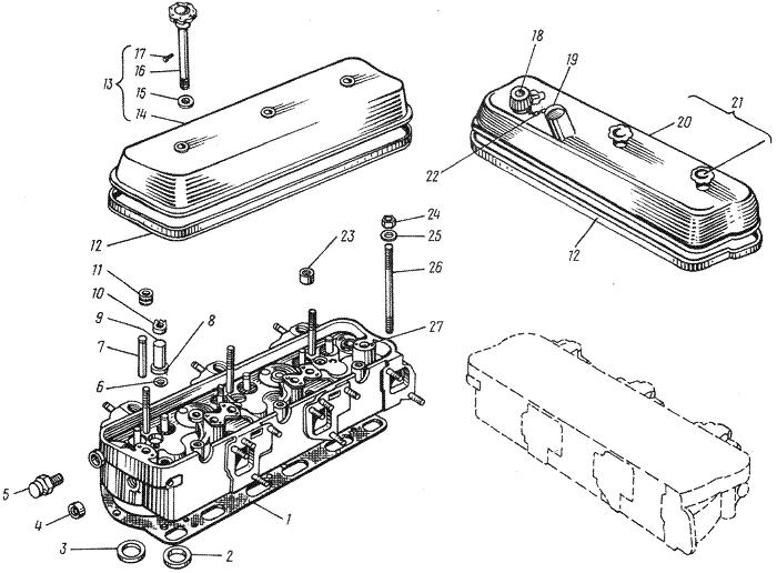 ЯMЗ 236 M : Головка цилиндров