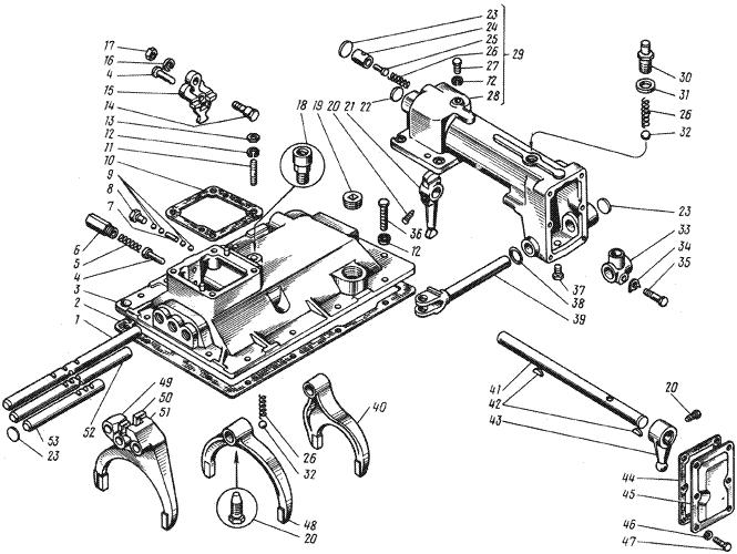 ЯMЗ 236 M : Механизмы переключения передач