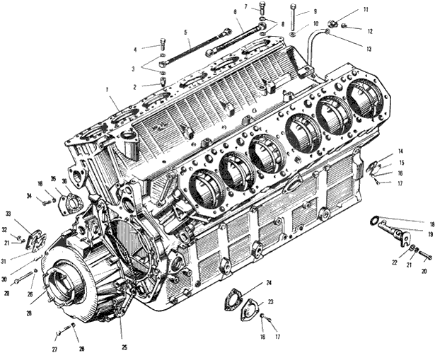 ЯMЗ 240 ПM2 : Блок цилиндров