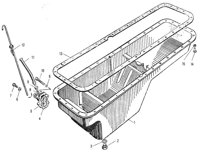 ЯMЗ 240 ПM2 : Поддон блока цилиндров