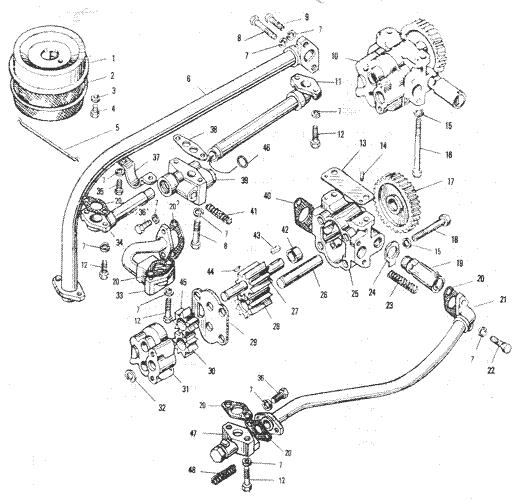ЯMЗ 240 ПM2 : Маслянный насос