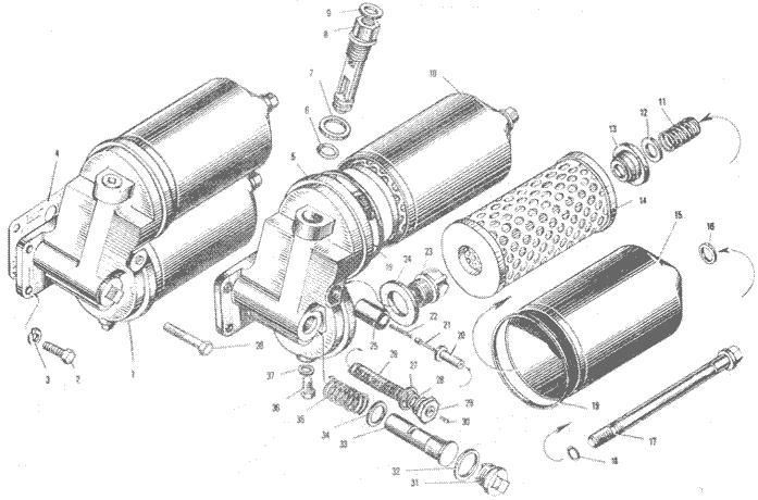 ЯMЗ 240 ПM2 : Маслянный фильтр