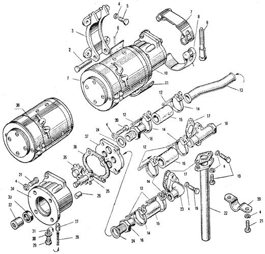 ЯMЗ 240 ПM2 : Маслозакачивающий насос