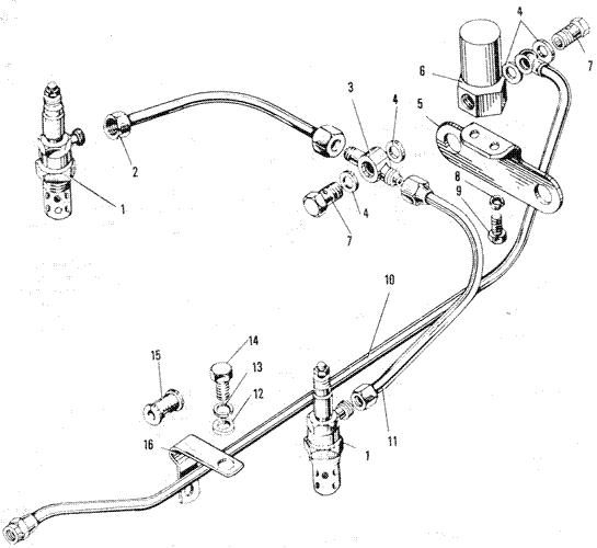 ЯMЗ 240 ПM2 : Электрофакельное устройство