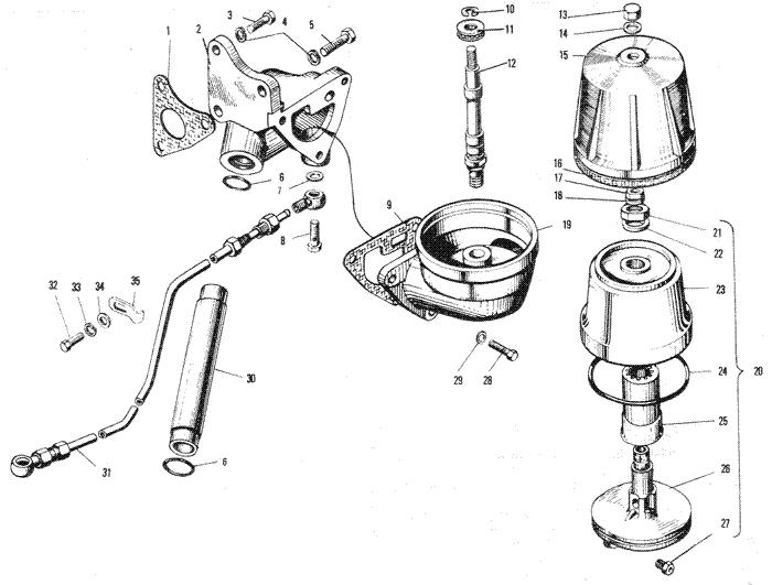 ЯMЗ 240 ПM2 : Фильтр центробежной очистки масла
