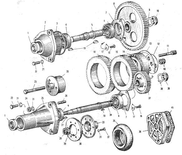 ЯMЗ 240 ПM2 : Приводагрегатов