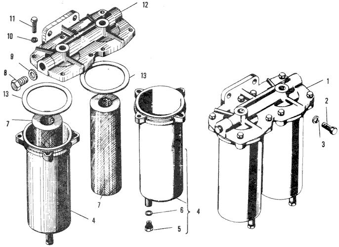 ЯMЗ 240 ПM2 : Фильтр грубой очистки топлива