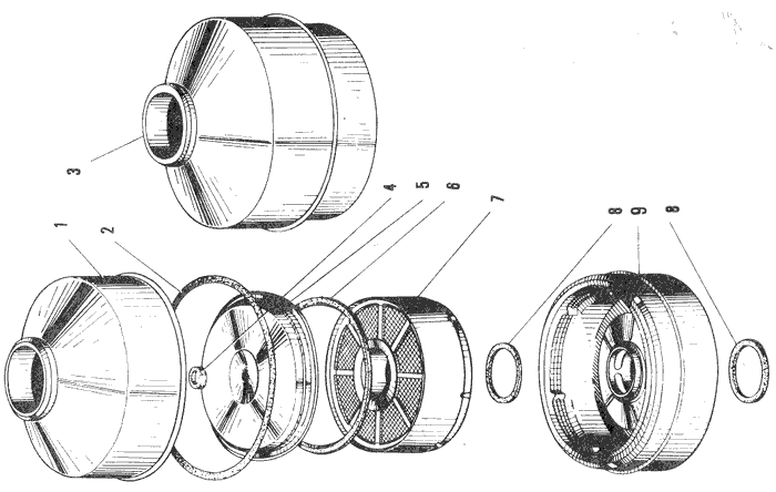 ЯMЗ 240 ПM2 : Воздушный фильтр