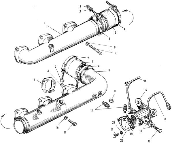 ЯMЗ 240 ПM2 : Впускной трубопровод