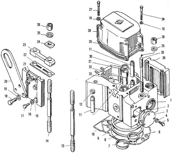 ЯMЗ 240 ПM2 : Головка цилиндров