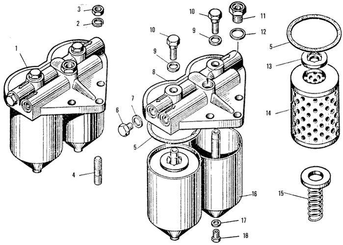 ЯMЗ 240 ПM2 : Фильтр тонкой очистки топлива