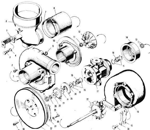 ЯMЗ 240 ПM2 : Турбокомпресср К-36