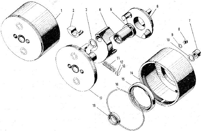ЯMЗ 240 ПM2 : Муфта опережения впрыска