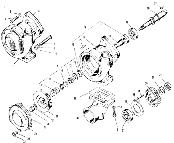 ЯMЗ 240 ПM2 : Водяной насос