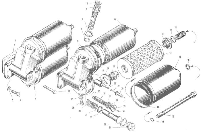 ЯМЗ 240 БМ2 Маслянный фильтр