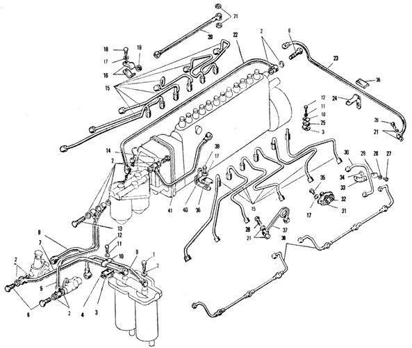 ЯМЗ 240 БМ2 Топливные трубопроводы