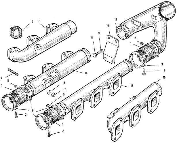 ЯМЗ 240 БМ2 Впускной трубопровод