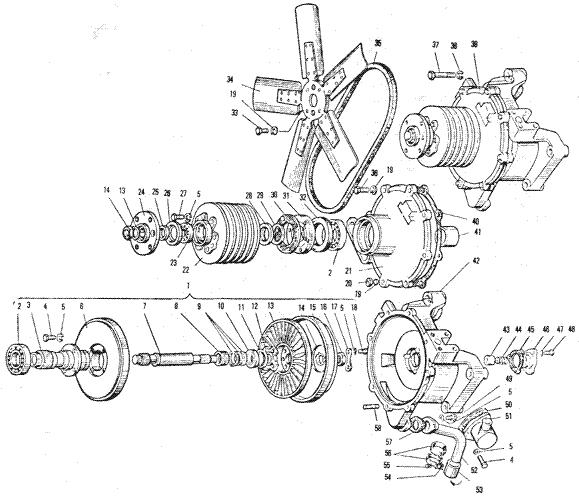 ЯМЗ 240 БМ2 Вентилятор и гидромуфта привода