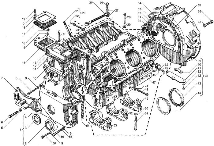 ЯMЗ 236 HE : Блок цилиндров