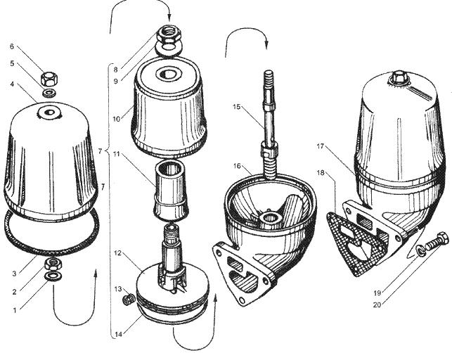 ЯMЗ 236 HE : Маслоочиститель центробежный