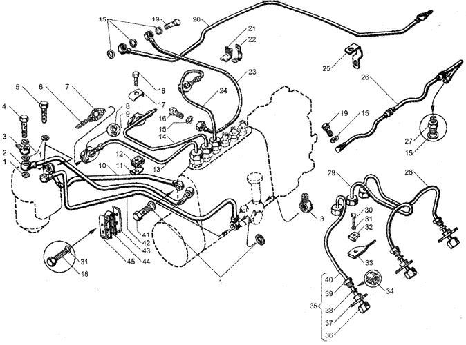 ЯMЗ 236 HE : Топливные трубопроводы