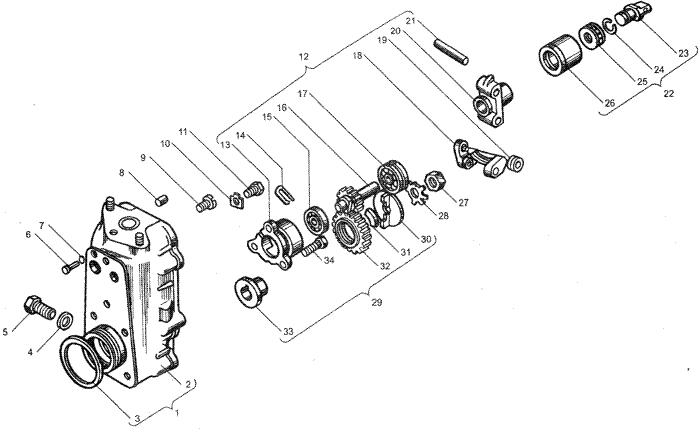 ЯMЗ 236 HE : Корпус регулятора частоты вращения