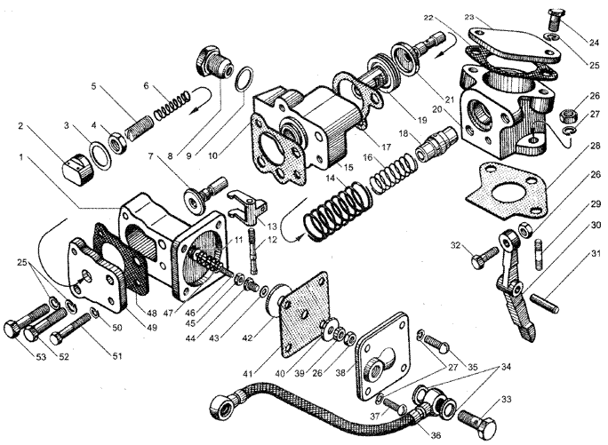 ЯMЗ 236 HE : Корректор подачи топлива по наддуву