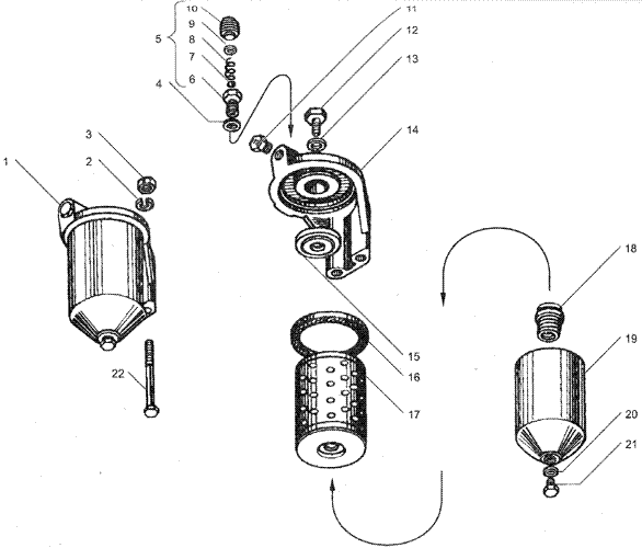 ЯMЗ 236 HE : Фильтр тонкой очистки топлива