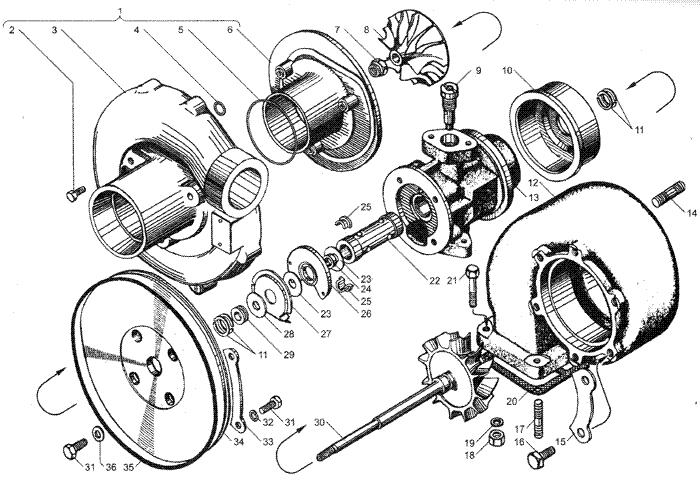ЯMЗ 236 HE : Турбокомпрессор