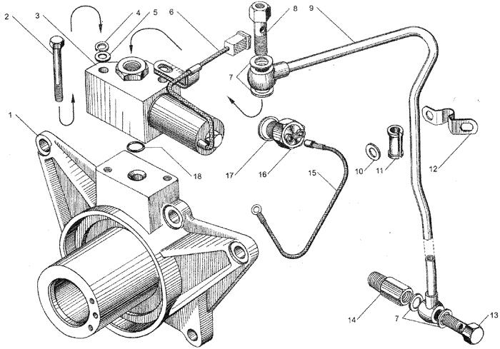 ЯMЗ 236 HE : Электромагнитный клапан привода вентилятора