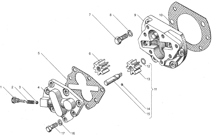 ЯMЗ 236 HE : Масляный насос коробки передач