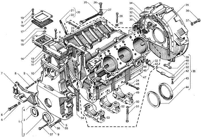 ЯMЗ 236 HE2 : Блок цилиндров