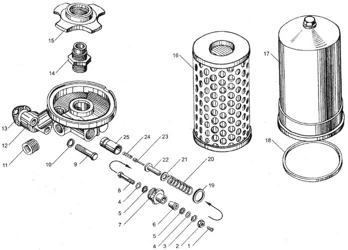 ЯMЗ 236 HE2 : Фильтр масляный