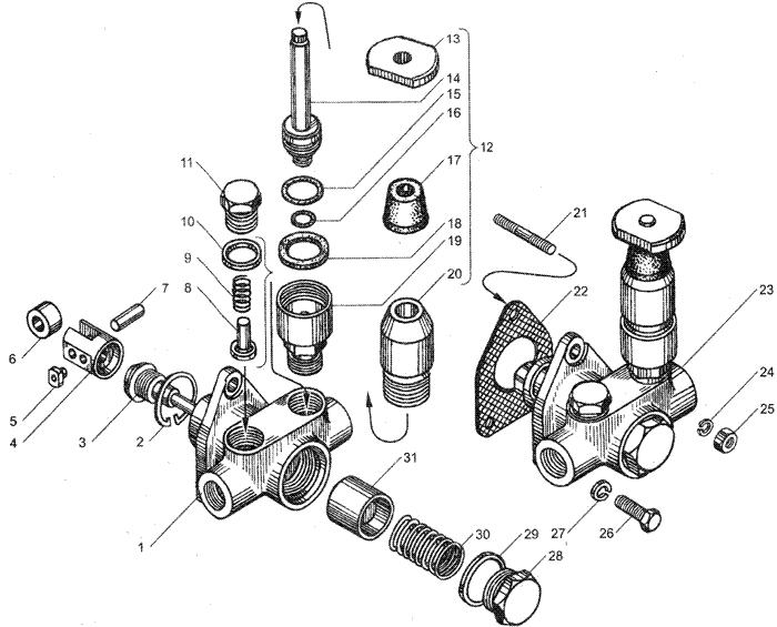 ЯMЗ 236 HE2 : Насос топливоподкачивающий
