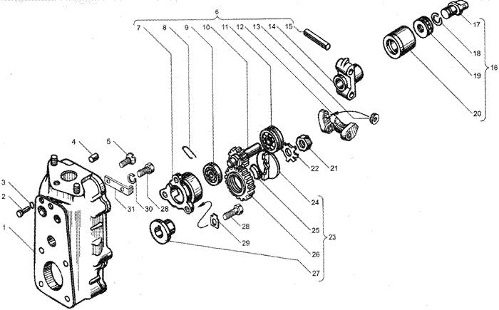 ЯMЗ 236 HE2 : Корпус регулятора частоты вращения