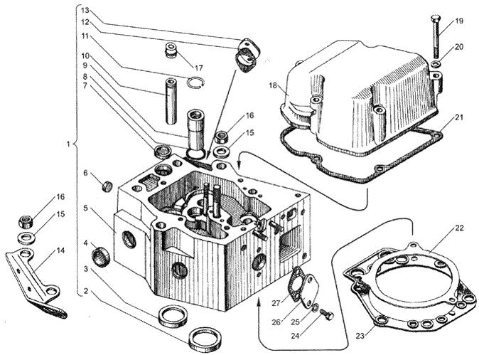 ЯMЗ 236 HE2 : Головка цилиндров