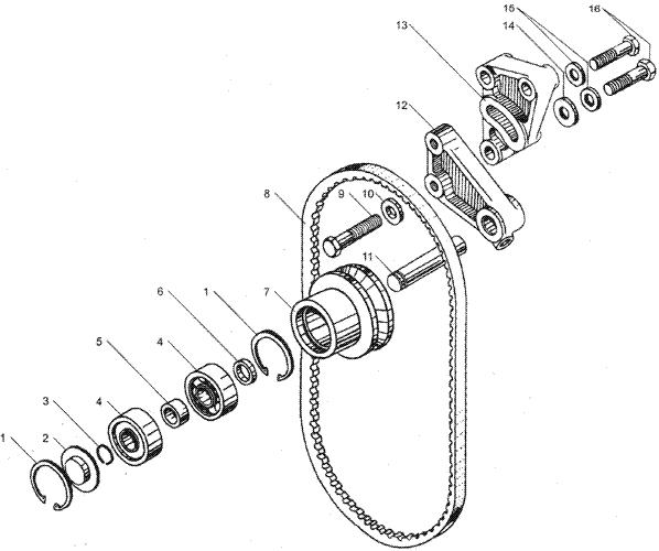 ЯMЗ 236 HE2 : Устройство натяжное ремня привода водяного насоса