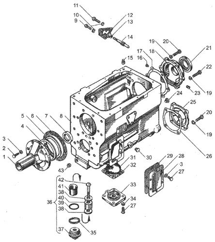 ЯMЗ 236 HE2 : Картер коробки передач