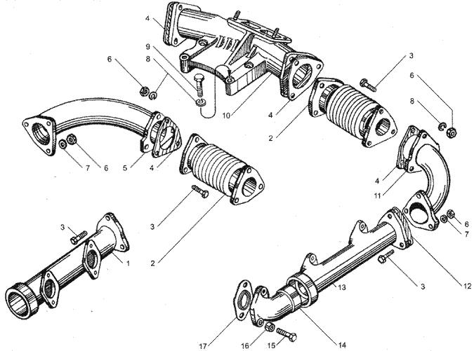 ЯMЗ 236 HE2 : Коллекторы впускные